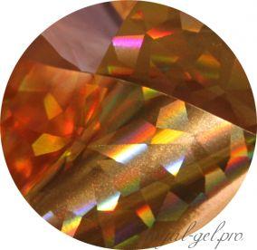Фольга для литья и кракелюра 46 Royal золото голографический ромб