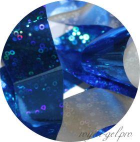 Фольга для литья и кракелюра 06 Royal синий голографический круг