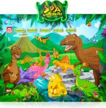 """Развивающий плакат """"Эра динозавров"""""""