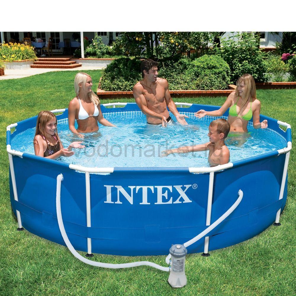 305х76см (28202) Бассейн каркасный INTEX + насос-фильтр
