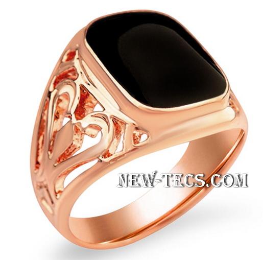 Перстень розовое золото с агатом