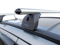 Багажник на крышу Chery Tiggo 5 2016-..., Lux, аэродинамические дуги (53 мм) на интегрированные рейлинги