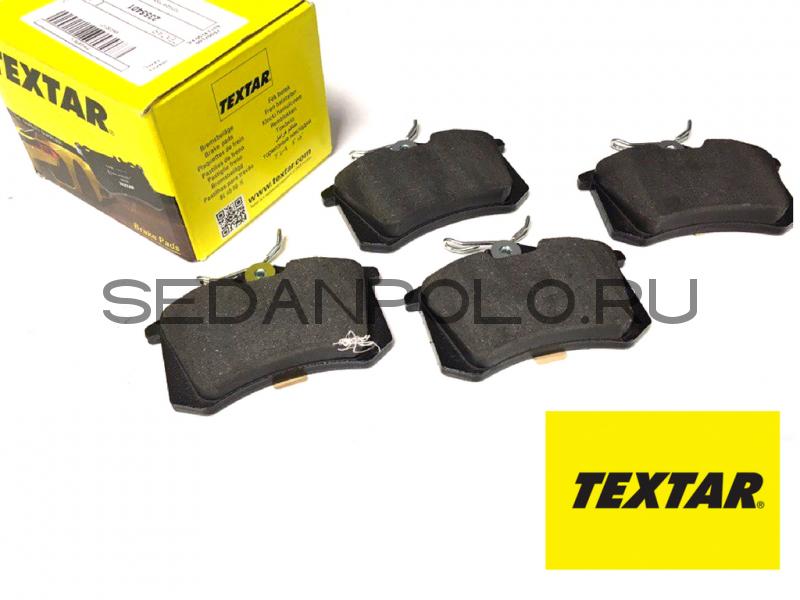 Колодки тормозные задние TEXTAR для Volkswagen Polo Sedan