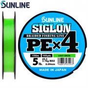 Шнур Sunline Siglon PEx4 150m салатовый