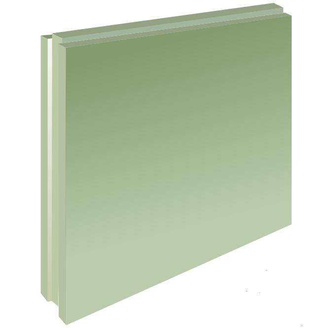 Плита пазогребневая влагостойкая полнотелая 667х500х80 мм, Гипсополимер