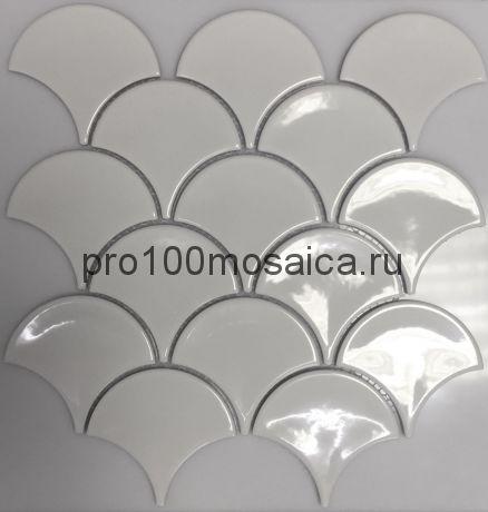 PS7300-42. Мозаика чешуйки  серия RUSTIC, размер, мм: 259*273*5 (NS Mosaic)