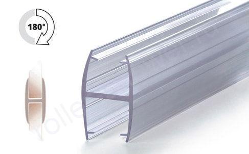 Уплотнитель для стыковки стекол под углом 180°, для стекла 8-8мм. Длина 2 метра.