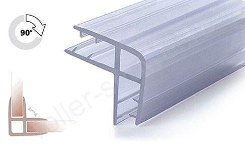 Уплотнитель для стыковки стекол под углом 90°, для стекла 8-8мм. Длина 2 метра.