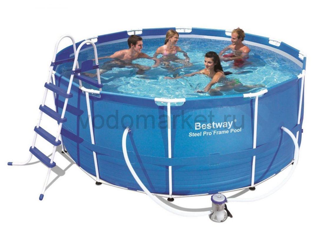 366x122см (13898/56420) Bestway каркасный бассейн