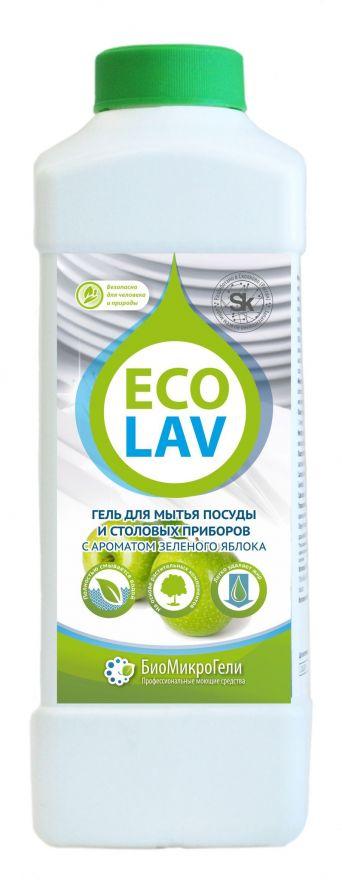 Гель для мытья посуды яблоко  EcoLav (ЭкоЛав) 1000 мл