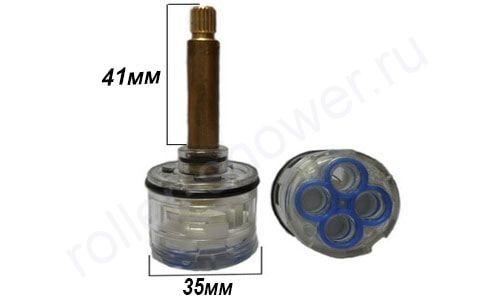 Картридж для смесителя на 4 режима D-35мм L-41мм для душевой кабины