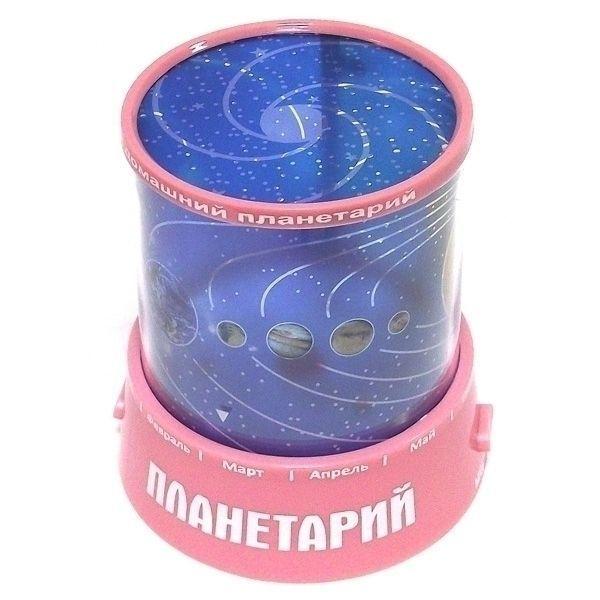 Ночник проектор звездного неба Планеты розовый