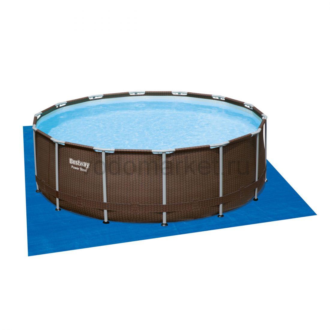 427х107 см (56664) Bestway каркасный бассейн ротанг DELUXE