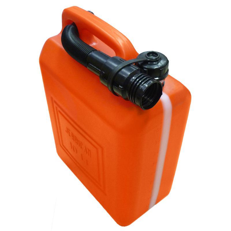 Канистра для бензина пластм., с заливн.устр.10 л