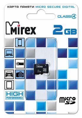 Карта памяти microSD 2 Gb MIREX 4 class (без адаптером SD)