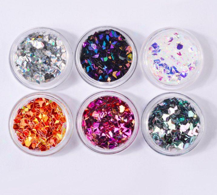 3 D алмазные блестки (набор 6 цветов)