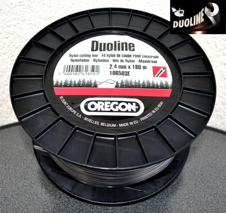 """Леска триммерная OREGON """"Duoline"""" 2,4mm*180m"""