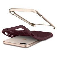Чехол Spigen Neo Hybrid Herringbone для iPhone 8 Plus бордовый