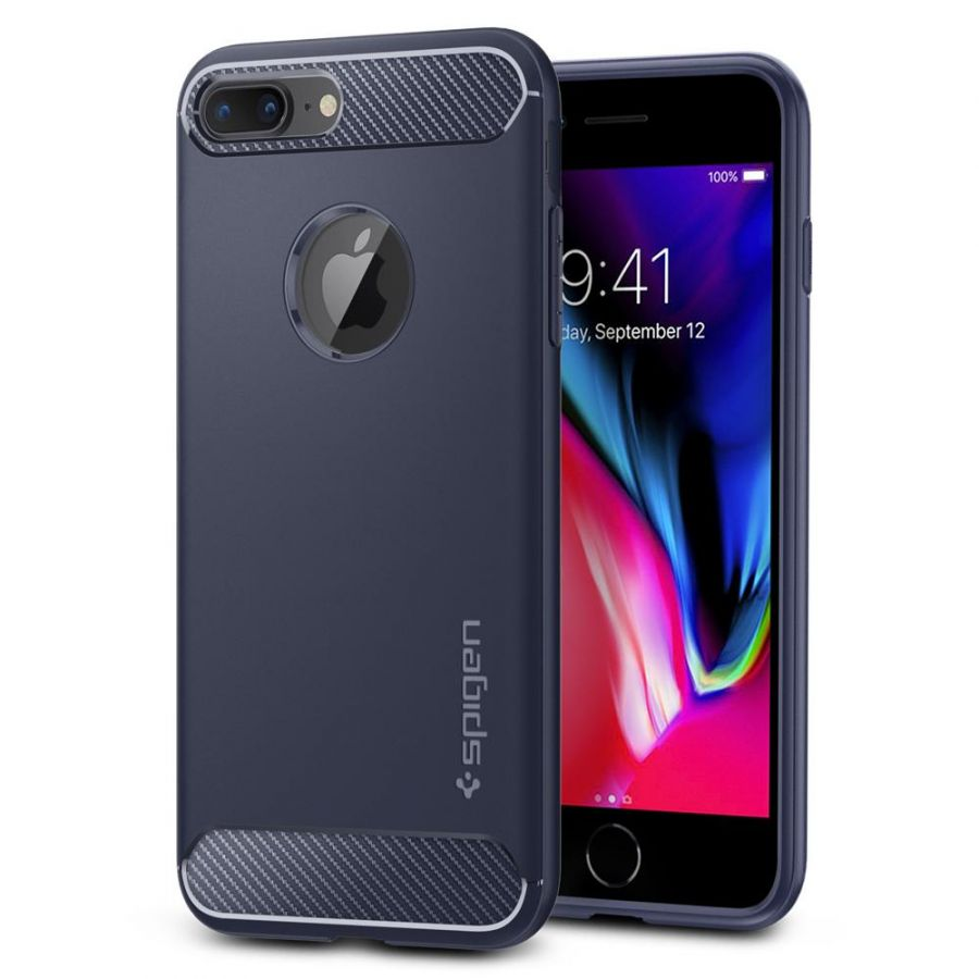 Чехол Spigen Rugged Armor для iPhone 8 Plus синий