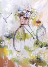 Почтовая открытка Цветочный ветер