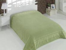 "Простыня махровая ""KARNA"" REBEKA 160x220 см (т.зеленая) Арт.2654-16"