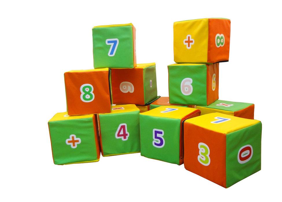 """Набор мягких кубиков """"Арифметика"""" , 12 штук в сумке"""