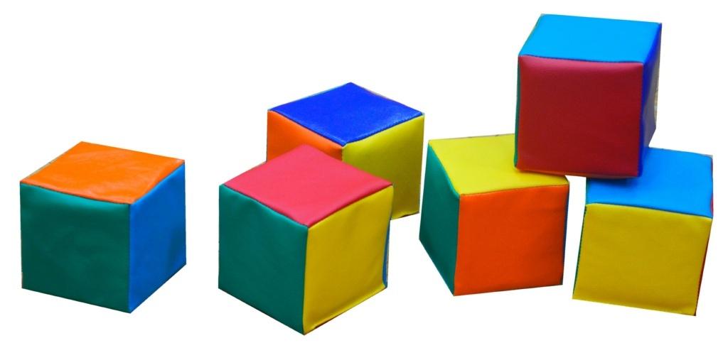 """Набор мягких кубиков """"Мини"""" (6 шт. 10*10*10 см)"""