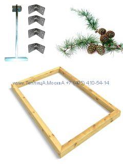 Фундамент 2,5 x 4 лиственница строганный сухой брус 100 х 100 мм