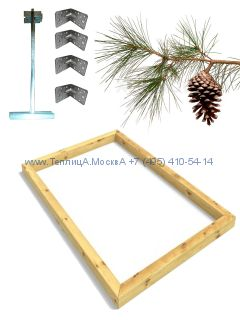 Фундамент 5,6 x 8 сосна строганный сухой брус 100 х 100 мм