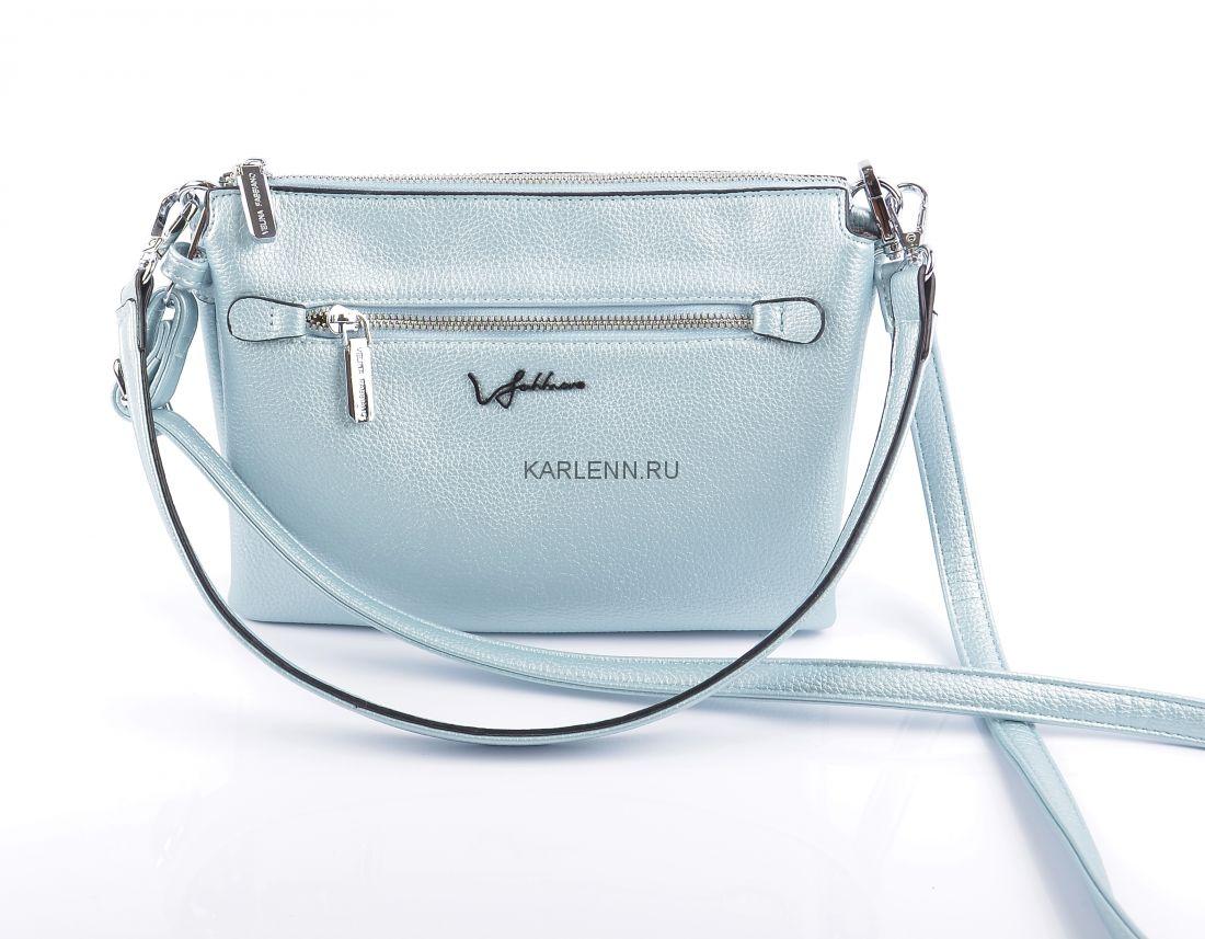 Сумка через плечо Velina Fabbiano (небесно-голубая)