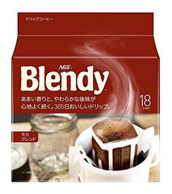 AGF Blendy Mocha Blend (Мокка) молотый кофе в дрип-пакетах (18 пакетиков)