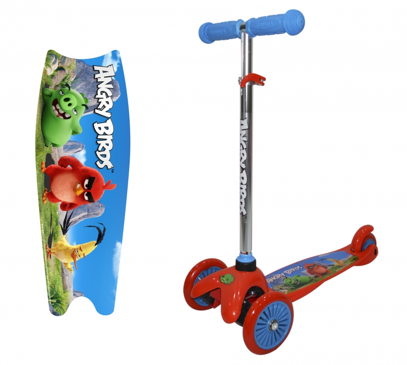 "Самокат трёхколёсный 1TOY ""Angry Birds"""