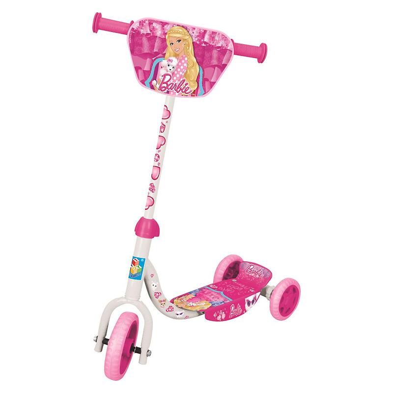 Детский трехколесный самокат 1TOY - Barbie
