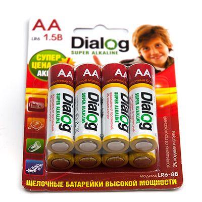 Батарейка щелочная АА Dialog, 2 шт. в блистере LR6-8B