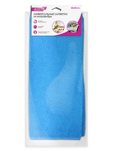 Универсальные салфетки из микрофибры Partner, синие, 3 шт