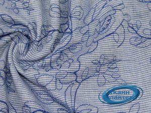 Рубашечная ткань полоска вышивка VT-9830/D1/C#1
