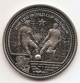 Чемпионат мира по футболу Россия-2018  1 доллар Виргинские Острова 2018