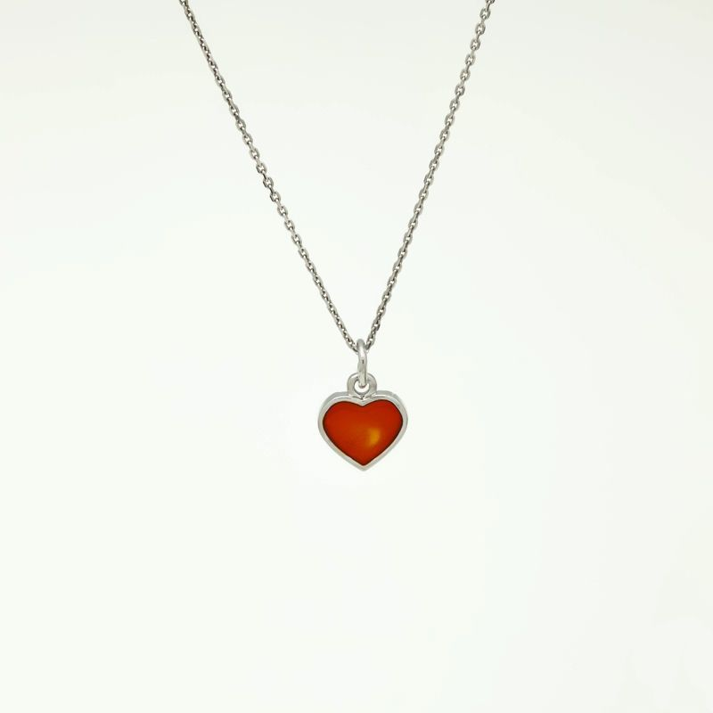 """Подвеска серебряная """"Сердце"""" с эмалью"""