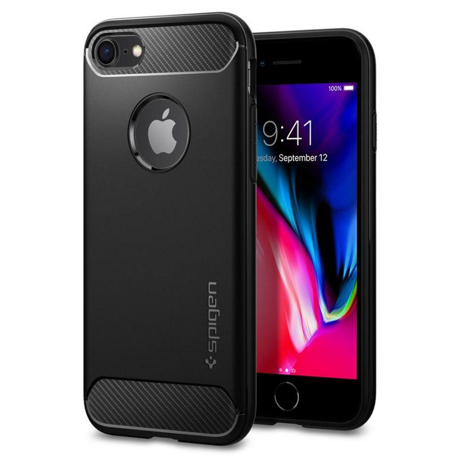 Чехол Spigen Rugged Armor для iPhone 8 черный