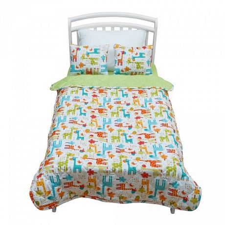 """Покрывало с подушками """"Safary Kids"""" покрывало (110*70) и две подушки  (40*30)"""