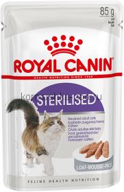Royal Canin паучи для кастрированных кошек и котов (паштет), Sterilised