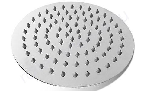 Верхний душ из нержавеющей стали для душевых кабин диаметр 150мм. Втулка с резьбой в комплекте.