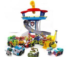 Офис Спасателей + полный комплект из 10 спасателей  на машинках (Щенячий патруль)
