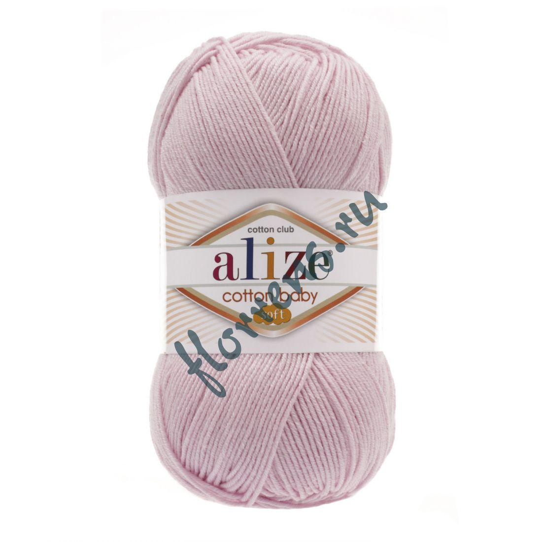 Пряжа Alize Cotton Baby soft / 184 св. розовый