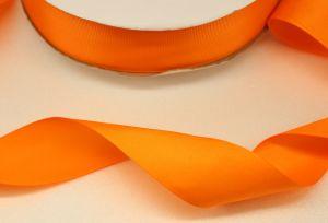 Лента репсовая однотонная 15 мм, длина 25 ярдов, цвет: оранжевый