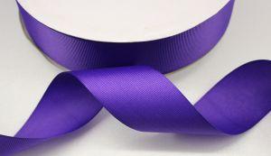 Лента репсовая однотонная 15 мм, длина 25 ярдов, цвет: фиолетовый