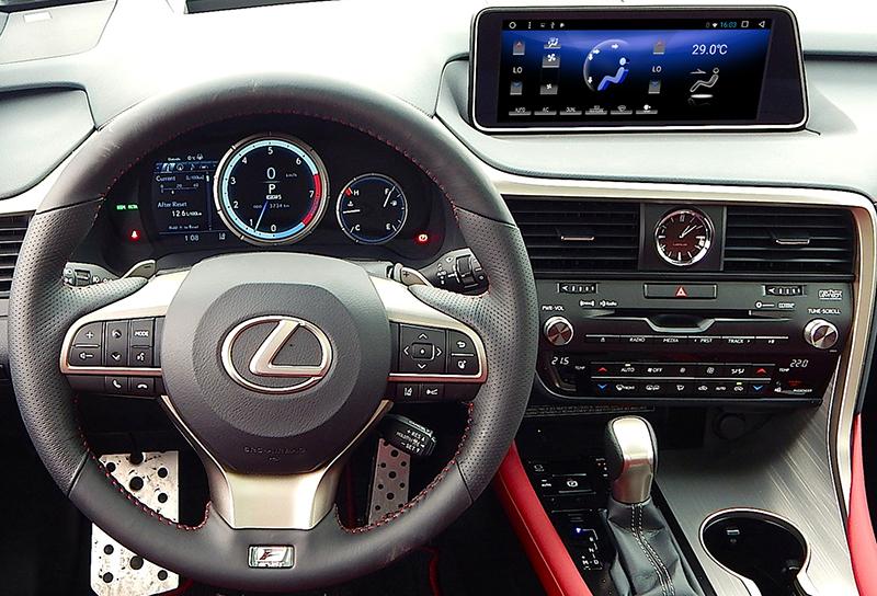 Замена монитора 8 дюймов на 12,3 дюйма для Lexus RX (2015-2018) Radiola RDL-LEX-RX на базе Android.