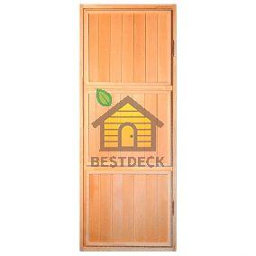 Дверь для бани из липы глухая ДГ-3