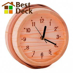 Часы SAWO 530-P из сосны для сухого помещения