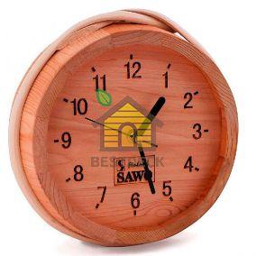 Часы SAWO 531-D из канадского кедра для сухого помещения